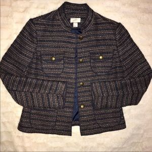 EUC {Loft} Tweed blazer size medium